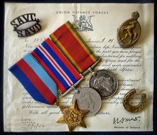 Tennant Mervyn medals-01