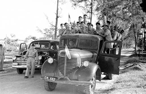 Cao Đài soldiers being transported in Tây Ninh. Photo: Harrison Forman LIFE Magazine 1950