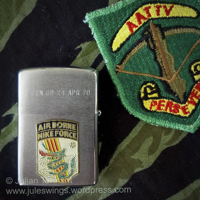 A Vietnam War MIKE FORCE Zippo to an AustralianAdvisor
