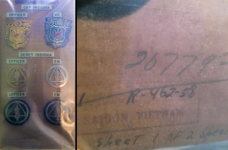 AVN cap badges DIA card 1958-01