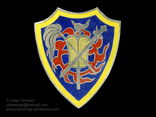Forces Armees Cao-Daistes (FACD) badge. Local made.