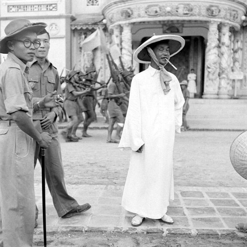 Cao Dai Nguyen Van Thanh and Pham Cong Tac at the Holy See 1948