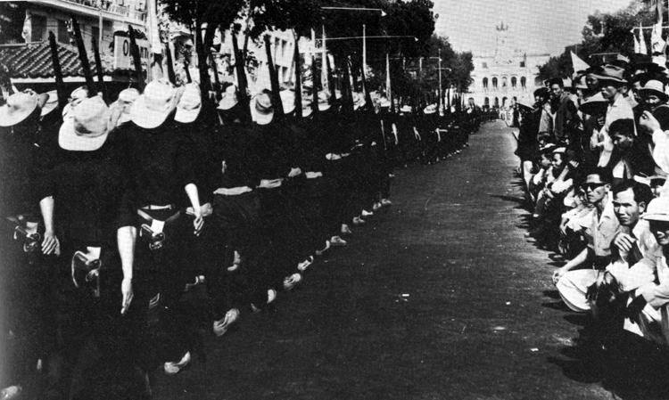 Cao Dai troops integrate 13 Feb 1955