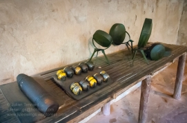 Explosives and IED display at the Cu Chi Tunnels complex. Photo: Julian Tennant