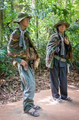 Two Viet Cong cadres on display at the Cu Chi Tunnels tourist park. Photo: Julian Tennant