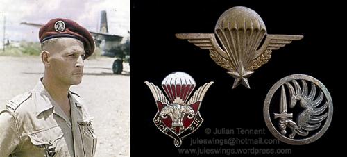 The 1st Laotian Parachute Battalion badge 1952 –1954