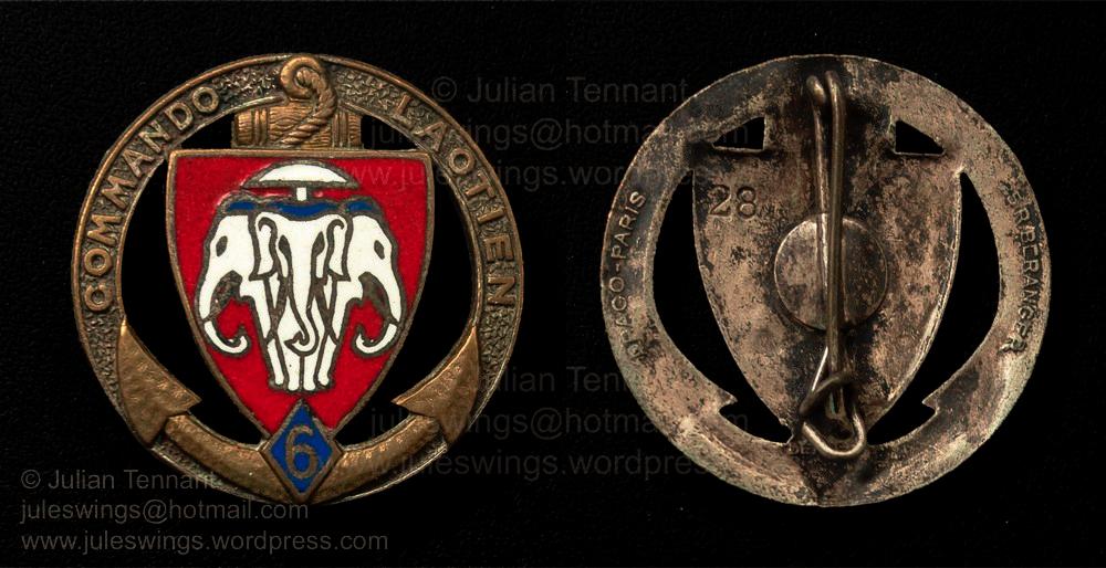 The 6th (Franco) Laotian Commando Badge  1946 –50
