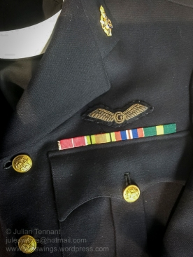 British military chaplain's dress uniform. Note the bullion Glider Pilot qualification wing. Photo: Julian Tennant