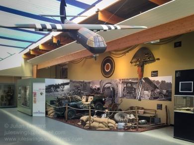 Exhibits at the Memorial Pegasus museum. Photo: Julian Tennant