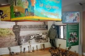 Demining gallery at the Cambodia Landmine Centre. Photo: Julian Tennant