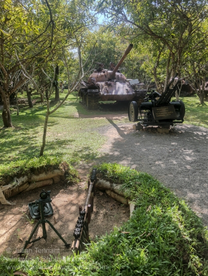 Exhibits on display at the War Museum Cambodia, Siem Reap. Photo: Julian Tennant
