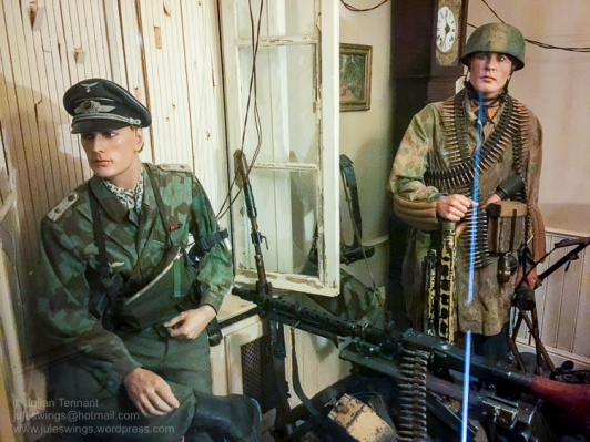 Dead Man's Corner Fallschirmjäger Regiment 6 Regimental Command Post exhibit detail. Photo: Julian Tennant