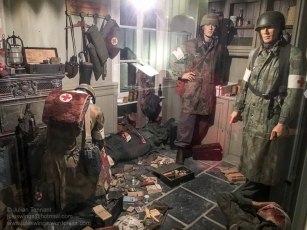 Fallschirmjäger Regiment 6 first aid station in the kitchen of the Marie House, which later became the Dead Man's Corner Museum. Photo: Julian Tennant