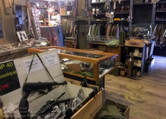 The 'Paratrooper' shop at the Dead Man's Corner Museum. Photo: Julian Tennant