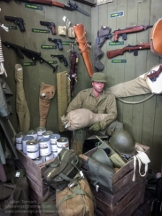The 'Paratrooper' shop at the Dead Man's Corner Museum. Photo: Julian Tennant
