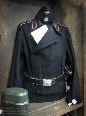 Reproduction uniform for sale in the 'Paratrooper' shop at the Dead Man's Corner Museum. Photo: Julian Tennant