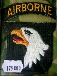 US 101st Airborne patch for sale in the 'Paratrooper' shop. Photo: Julian Tennant