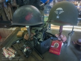A selection of Allied items for sale in the 'Paratrooper' shop at the Dead Man's Corner Museum. Photo: Julian Tennant