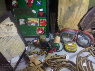 A selection of the original items for sale in the 'Paratrooper' shop at the Dead Man's Corner Museum. Photo: Julian Tennant