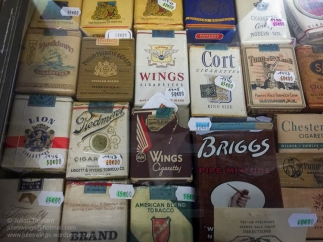 WW2 period cigarettes for sale in the 'Paratrooper' shop at the Dead Man's Corner Museum. Photo: Julian Tennant