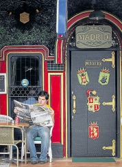 Entrance to the Madrid Bar, opened in 1969 by Vietnam veteran Rick Menard, the bar became 'the' hangout for spooks and agency types. At one stage it even had a CIA safe-house upstairs.