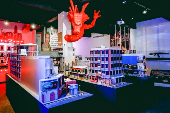 View of the 'Dragon' room with scale model of Patpong Road