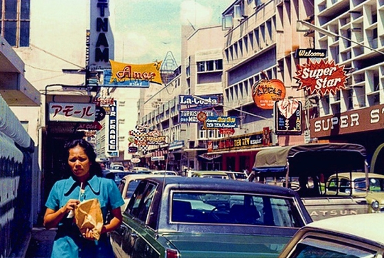 Patpong Road in the 1970's
