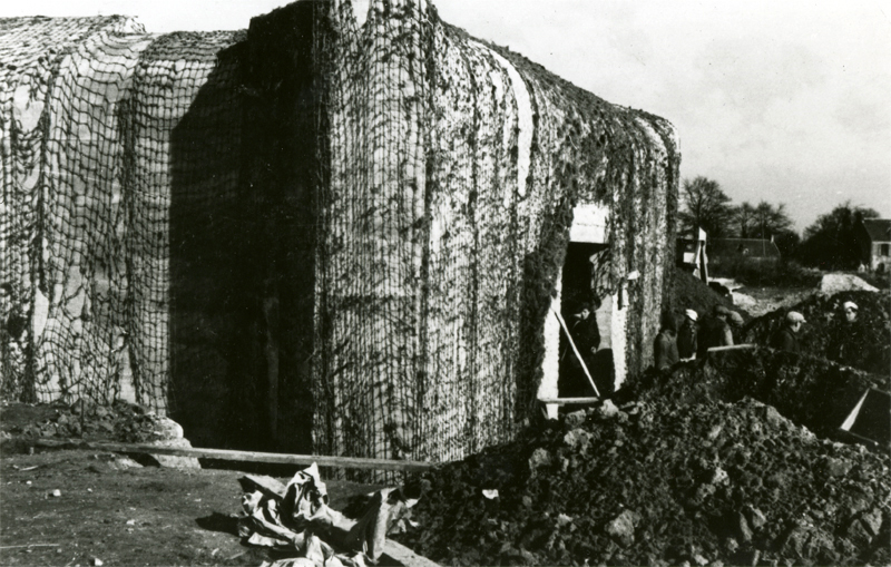 Construction of the casemates at the Merville Battery.