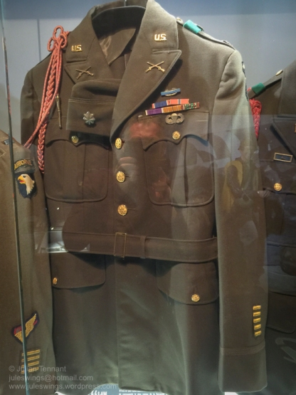 "Jacket of Maj. Richard D. ""Dick"" Winters, CO of the 2nd Battalion, 506 PIR. Photo: Julian Tennant"