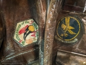 Insignia detail on the jacket of 2nd Lt George N. Wirtanen. 304th Troop Carrier Sqn, 442nd Troop Carrier Group. Photo: Julian Tennant