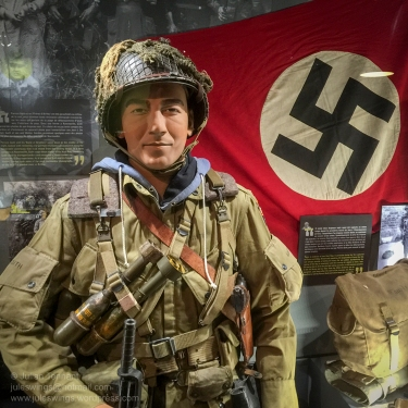 Exhibit detail at the D-Day Experience Museum, Normandy, France. Photo: Julian Tennant
