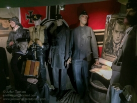German Navy Kriegsmarine uniforms on display in casemate No.1. Photo: Julian Tennant
