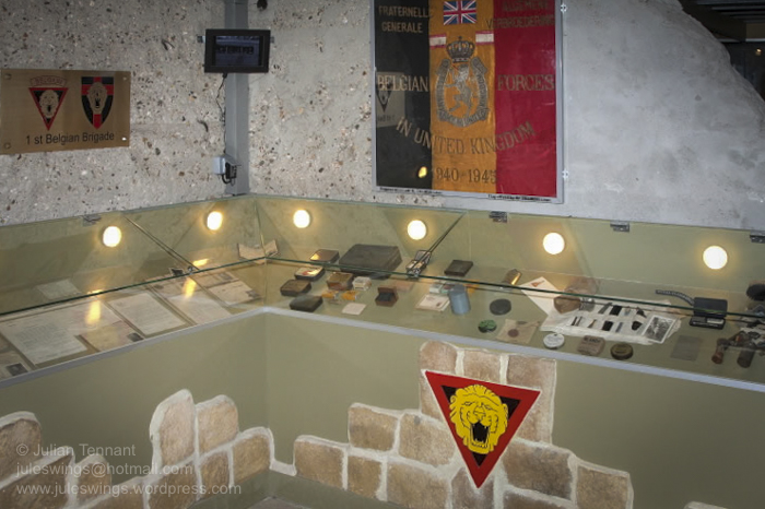 Casemate No. 4 is dedicated to the Belgian, Dutch, Luxembourg and British units which finally drove the Germans out of Merville in August 1945.
