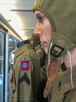 82nd Airborne Division uniform display cabinet detail at the Airborne Museum. Photo: Julian Tennant