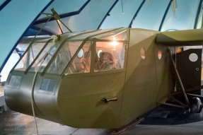Front of the Waco CG-4A glider at the Airborne Museum - Sainte Mere Eglise. Photo: Julian Tennant