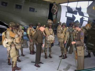 Centre-piece of the C-47 Building is a reconstruction of a scene featuring General Dwight D. Eisenhower visiting paratroopers of the 502nd PIR, 101st Abn Div at Greenham Common airfield on 5 June 1944. Photo: Julian Tennant