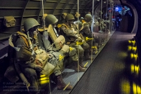 Paratroopers aboard a C-47 heading towards the DZ. Photo: Julian Tennant