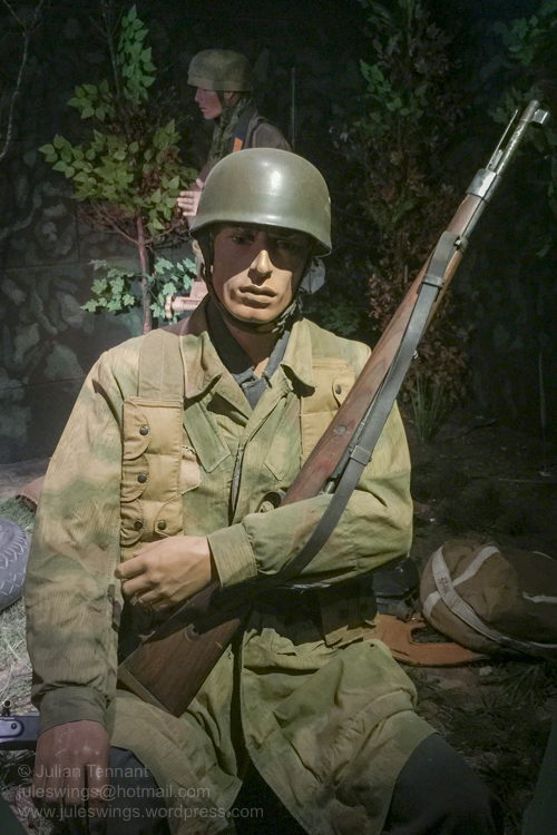 German para from Fallschirmjäger Regiment 6 who fought against their American counterparts during the early days of the Normandy invasion. Photo: Julian Tennant
