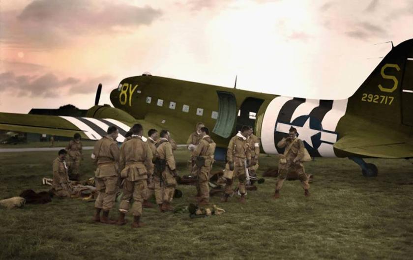 Stoy Hora C-47 Dakota at Exeter Airfield 05 June 1944