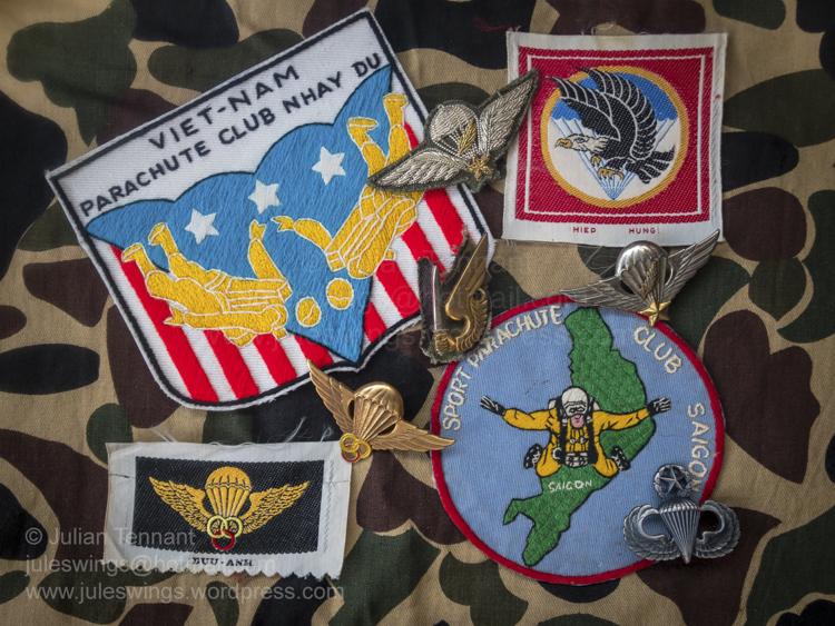 Vietnam War era Parachute clubpatches