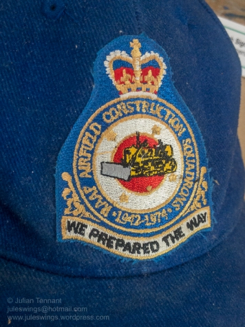 Patch detail from a baseball cap used by the RAAF Airfield Construction Squadron. Photo: Julian Tennant