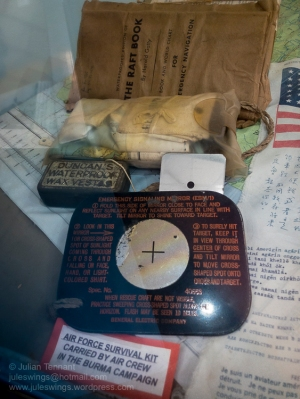 Air Force Survival Kit carried by air crew in the Burma Campaign. Photo: Julian Tennant