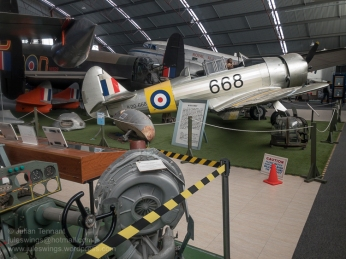 Commonwealth Aircraft Corporation CA-16 Wirraway Mk. III and other aircraft on display in the North Wing of the RAAFA Aviation Heritage Museum of WA. Photo: Julian Tennant