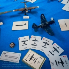 Aircraft Spotter playing cards from WW2 which were first issued in 1943. Photo: Julian Tennant