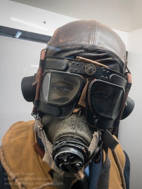 RAF Spitfire pilot's helmet from the Battle of Britain. Photo: Julian Tennant