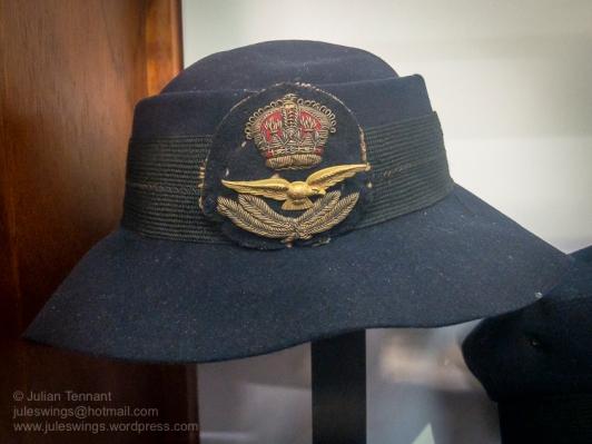 WW2 period Women's Auxiliary Australian Air Force (WAAAF) officers hat. Photo: Julian Tennant