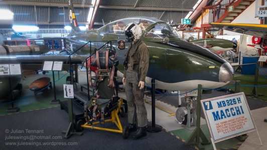 RAAF Aermacchi MB326H Macchi training aircraft and pilot. Photo: Julian Tennant