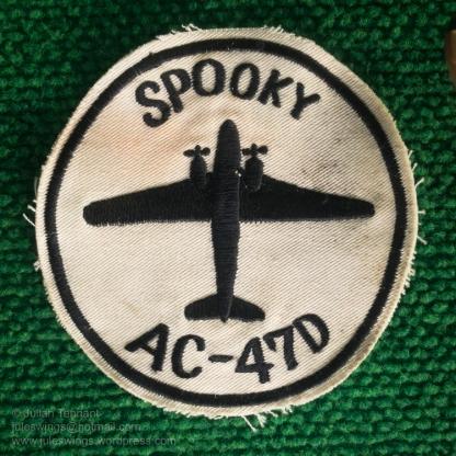 """Vietnam War period Douglas AC-47D """"Spooky"""" gunship crew patch. Photo: Julian Tennant"""