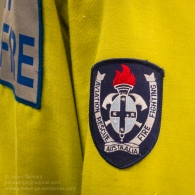 Patch detail of the RAAF fire fighting and aviation rescue teams. Photo: Julian Tennant