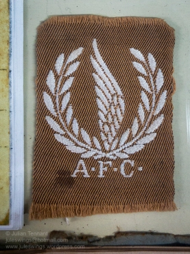 A very unusual A.F.C. insignia in the First World War section. Photo: Julian Tennant